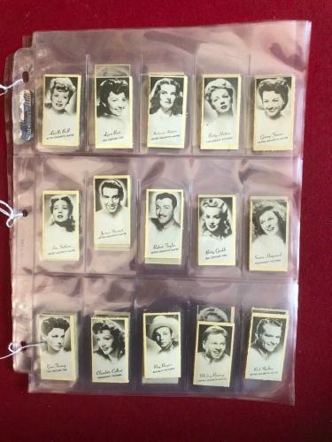 1947,Lucille Ball,J.C. PENNEY, Peerless Movie Star Card Set (50), RARE (Vintage)