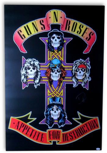 Duff McKagan Signed Autographed 36X24 Poster Guns N' Roses JSA HH37509