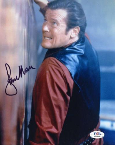Roger Moore Psa Dna Coa Signed 8x10 James Bond Photo Autograph