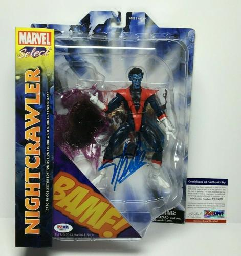 Stan Lee Signed Marvel Select Nightcrawler Action Figure PSA Y36503