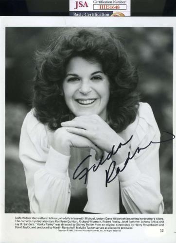 Gilda Radner JSA Coa Signed 8x10 Photo Autograph