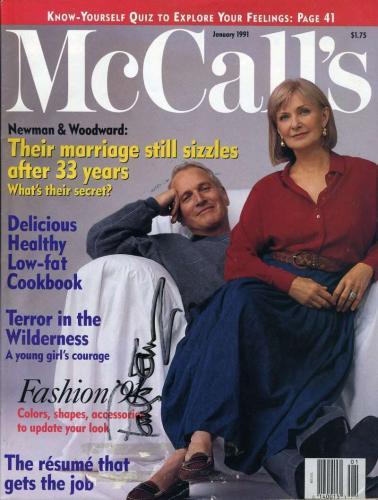 Paul Newman JSA Coa Signed McCalls Magazine Autograph