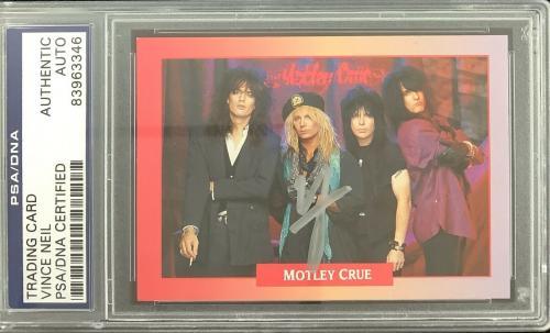 Vince Neil Signed Card 1991 Rockcards Brockum #239 Motley Crue PSA DNA Tommy Lee