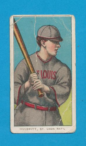 Sovereign T206 Rudy Hulswitt Vintage 1910 Tobacco Card Creased Rare Combo *tphlc