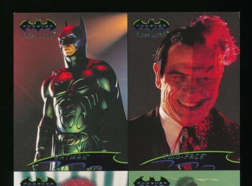Chromium Animaction Promo Sheet June 1995 Fleer Batman Forever Riddler Two-face
