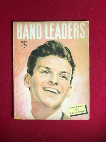 "1945, Frank Sinatra, ""BAND LEADERS"" Magazine  (No Label )Scarce / Vintage"