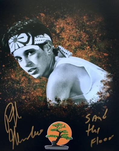 Ralph Macchio Signed Karate Kid (Sand The Floor) 8x10 Photo JSA Q06590