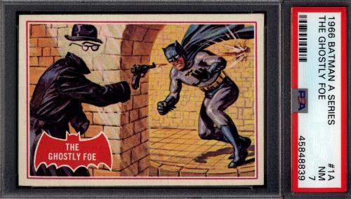 1966 Topps Batman A Series Red Bat #1A The Ghostly Foe PSA 7 *708939