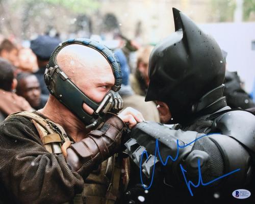 Christian Bale Signed 'The Dark Knight Rises' 11x14 Photo *Batman BAS C16277