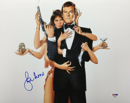 Roger Moore Signed 11x14 Photo *The Original J. Bond* PSA AB90553