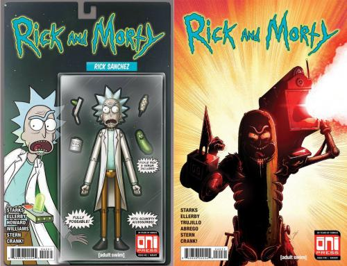 Rick And Morty 42 Mike Vasquez Action Figure 40 Iron Man 282 Homage Variant
