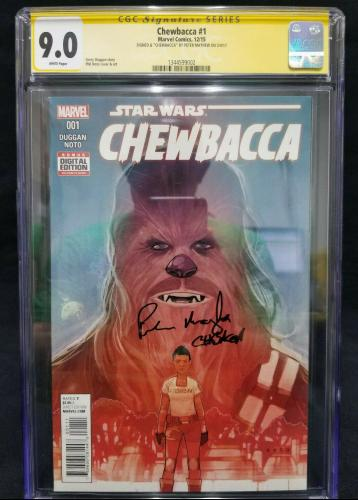 9.0 CGC '15 Marvel Star Wars Chewbacca #1 -- Signed by Peter Mayhew