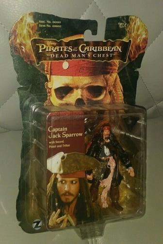 Disney Pirates Of The Caribbean Dead Mans Chest Jack Sparrow Figure Toy New 2006