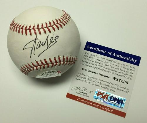 Stan Lee Signed Major League Baseball MLB *Marvel *Creator PSA W27228
