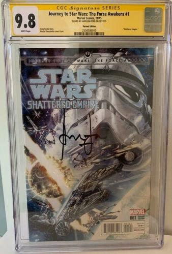 Han Solo Force Awakens #1 CGC 9.8 Signed by Harrison Ford Signature Series Comic