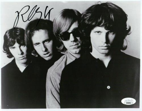Robby Krieger Signed Autographed 8X10 Photo The Doors B/W Band Shot JSA HH60842