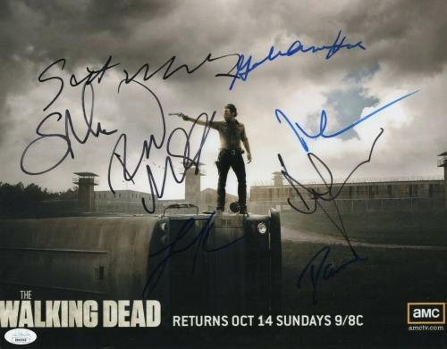 The Walking Dead Cast Signed Autographed 11X14 Photo Lincoln Reedus JSA BB40966