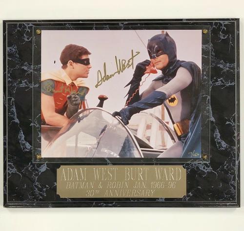 Adam West & Burt Ward autograph Batman & Robin signed 8x10 Photo /250 ~ PSA COA