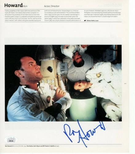 Ron Howard Signed Autographed Book Page Photo Apollo 13 Director JSA II59218