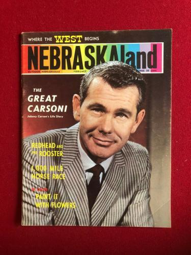 "1965, Johnny Carson, ""NEBRASLALAND"" Magazine (No Label) Scarce / Vintage"
