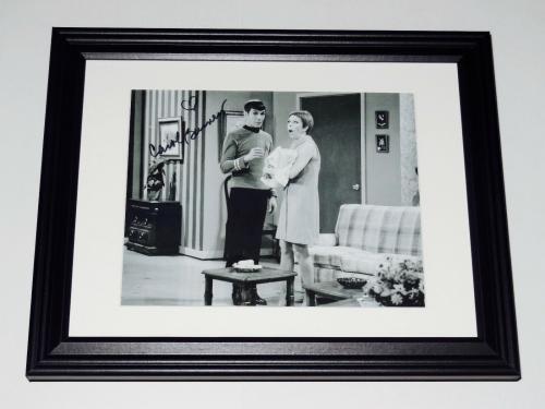 Carol Burnett Autographed 8x10 Photo (framed & Matted) - With Leonard Nimoy!