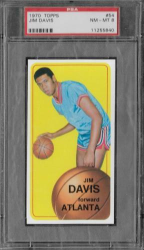 Psa 8 1970 Topps Baseball #54 Jim Davis