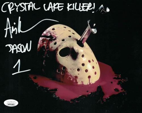 Ari Lehman Autographed Friday The 13th 8x10 Photo Crystal Lake Killer JSA 26214
