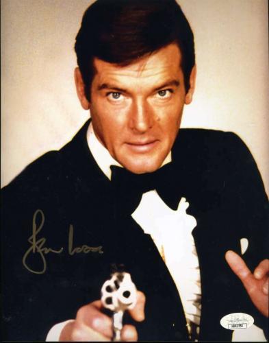 Roger Moore JSA Cert Signed 8x10 James Bond Photo Autograph