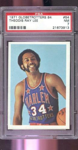 1971 Fleer Harlem Globetrotters 84 #54 Theodis Ray Lee PSA 7 Graded Card