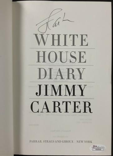 Jimmy Carter Signed Book White House Diary Hardcover President Autograph JSA