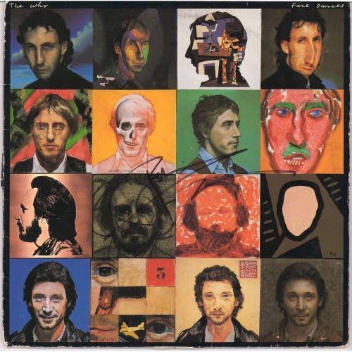Roger Daltrey & Peter Townshend Autographed The Who Face Dances Album - PSA/DNA LOA