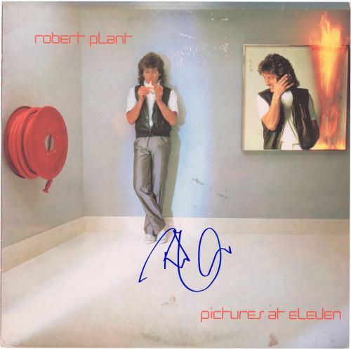 Robert Plant Autographed Led Zeppelin Pictures At Eleven Album Cover - PSA/DNA COA