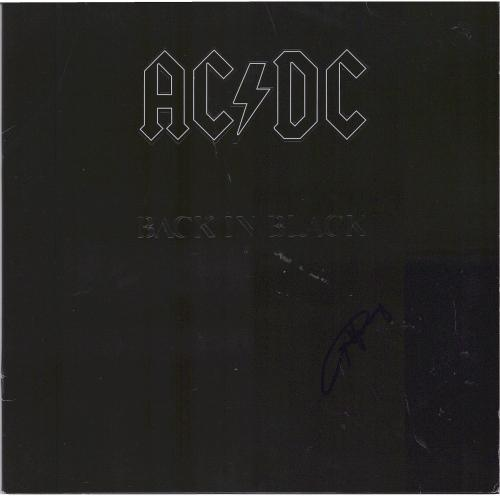Angus Young AC/DC Autographed Back in Black Album - JSA