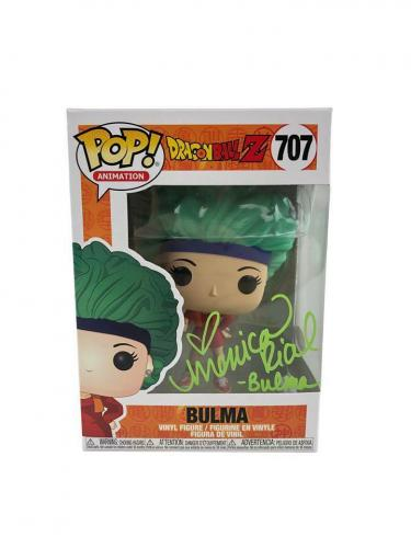 Monica Rial Autograph Funko POP Dragon Ball Z Bulma Signed JSA COA - Green