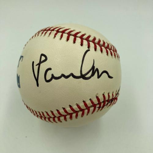 Paul McCartney Single Signed Major League Baseball With Beckett COA The Beatles