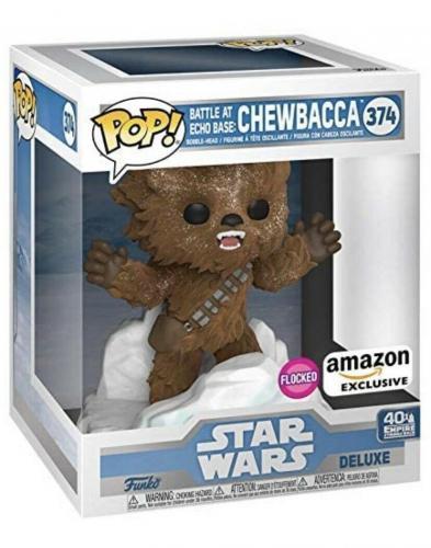 Funko Pop! Deluxe Star Wars: Battle At Echo Base Flocked Chewbacca In Hand