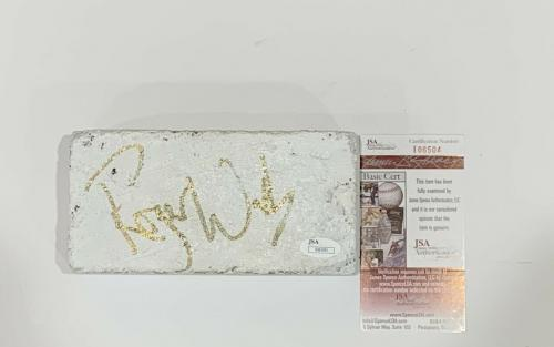 Roger Waters Signed The Wall Brick Pink Floyd Proof Jsa Authenticated Rare