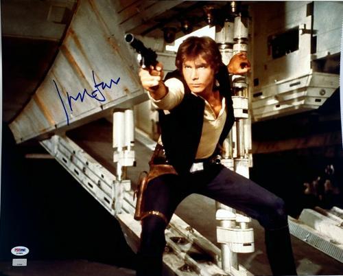 """HARRISON FORD Signed STAR WARS """"Han Solo"""" 16x20 Photo Graded PSA/DNA 10 #AF09859"""