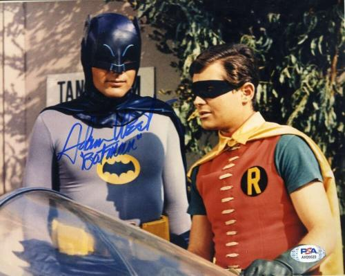 Adam West PSA DNA Coa Signed 8x10 Batman Photo Autographed