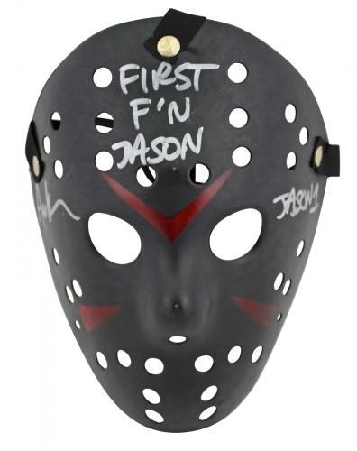 "Ari Lehman Friday The 13th ""First F'n Jason"" Signed Black Jason Mask BAS Witness"
