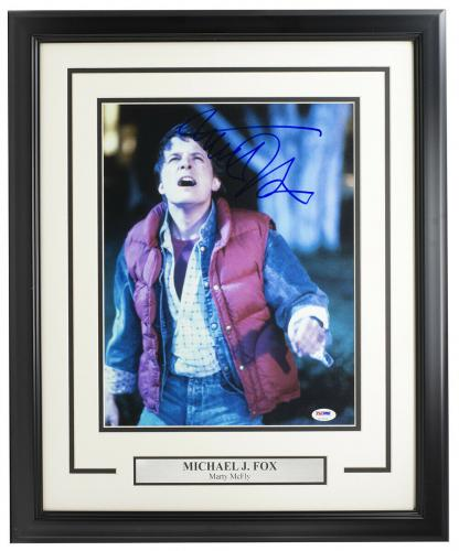 Michael J. Fox Signed Framed Back To The Future 11x14 Photo PSA/DNA U73104
