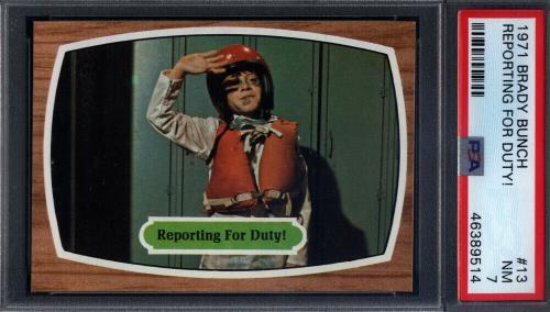 1971 Topps The Brady Bunch #13 Reporting For Duty PSA 7 *710156