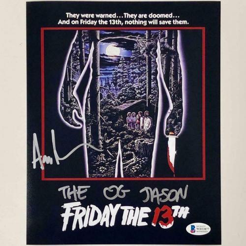 """Ari Lehman """"The OG Jason"""" signed Friday the 13th 8x10 photo BAS COA Beckett"""