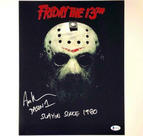 "Ari Lehman ""Slayin since 1980"" signed Friday the 13th 11x14 photo ~ Beckett COA"