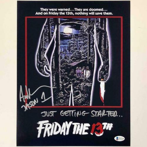 """Ari Lehman """"Just Getting Started"""" signed Friday the 13th 11x14 photo BAS COA"""