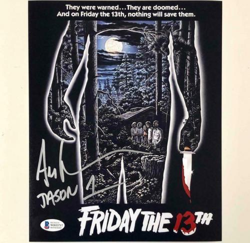 "Ari Lehman signed Friday the 13th ""Jason 1"" 8x10 movie poster photo ~ BAS COA"