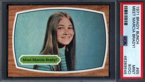 1971 Topps Brady Bunch #65 Meet Marcia Brady PSA 9 (OC) *710205