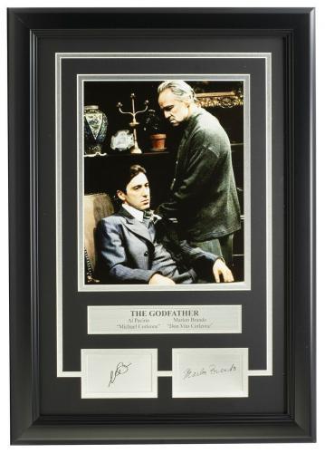 Al Pacino Marlon Brando Framed 8x10 The Godfather Photo Laser Engraved Signature
