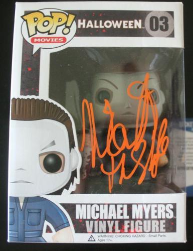 Nick Castle Halloween Signed Michael Meyers #03 Funko Pop w/Beckett COA V77699