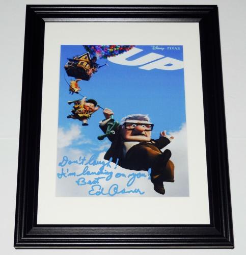 Ed Asner Autographed 8x10 Color Photo (framed & Matted) - Disney's Up!